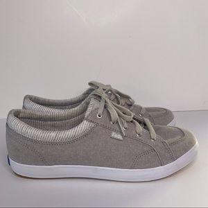 Keds Women's Center Chambray Stripe shoes 8.5 grey